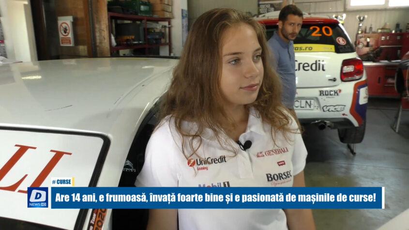 Are 14 ani, este frumoasă, învață foarte bine și e pasionată de mașinile de curse!
