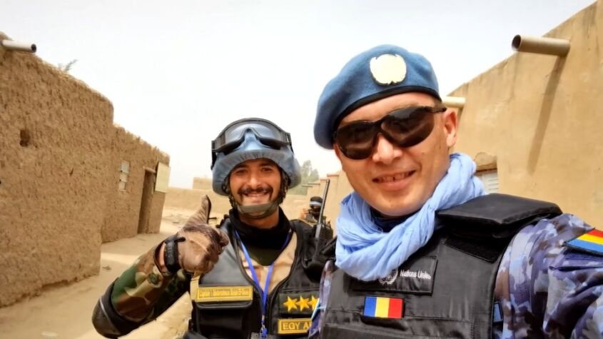 Militar român, în deșertul african