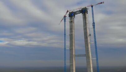 podul suspendat peste Dunăre de la Brăila