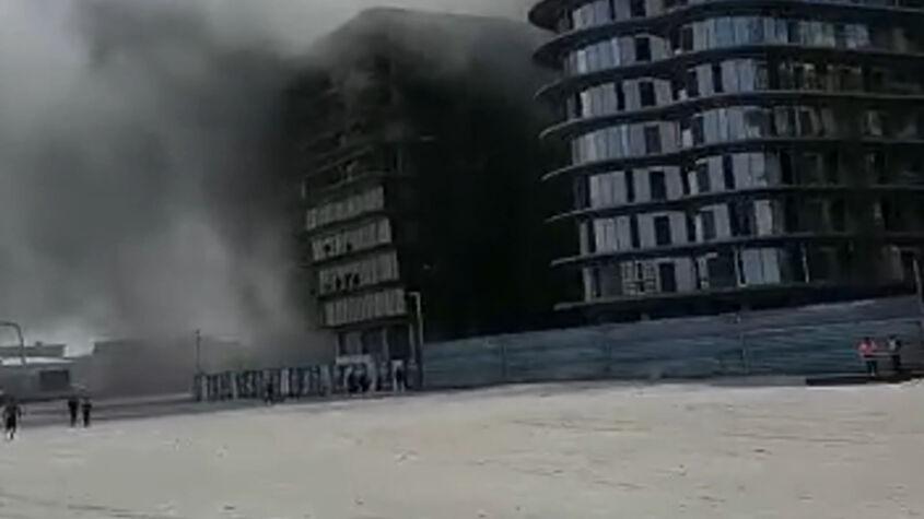 Incendiu puternic în Mamaia Nord