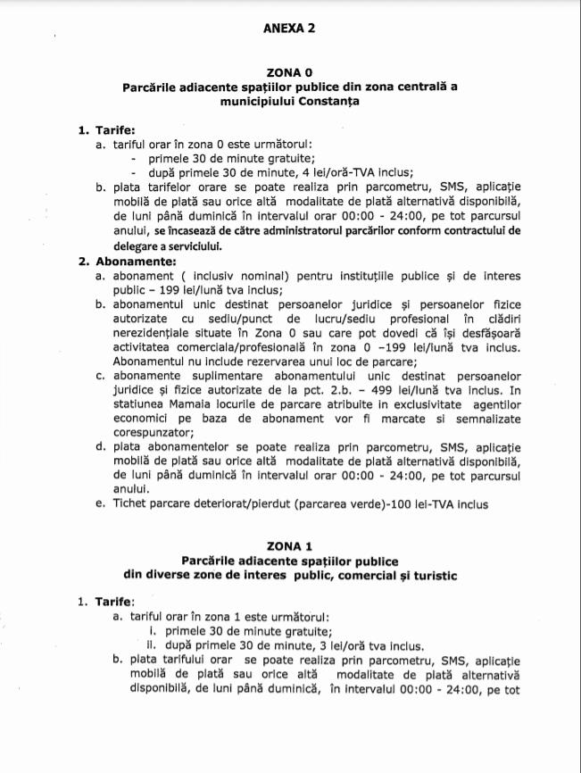 Noul Regulament al parcărilor din Constanța, elaborat. Cât vom plăti pe oră?