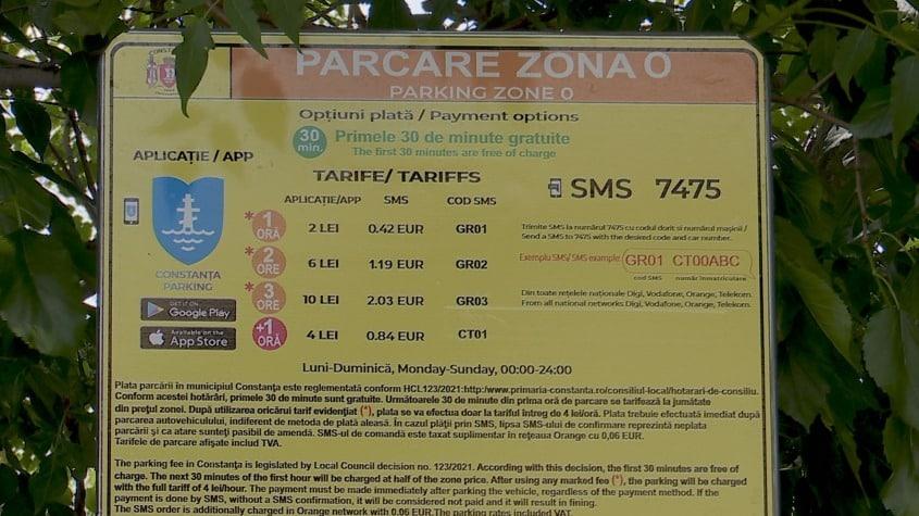 Începe taxarea parcării în Constanța și Mamaia