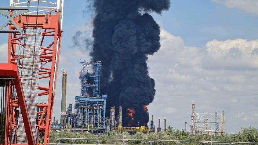 Pacienti incendiu Petromidia