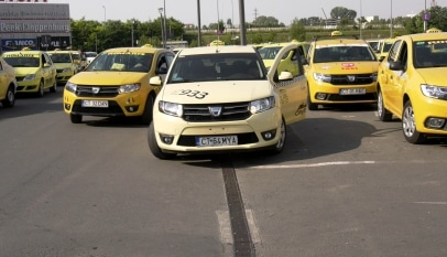 Taximetriștii au ieșit în stradă