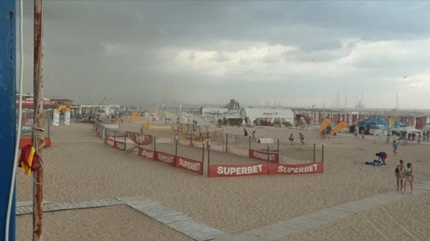 Furtună pe litoral