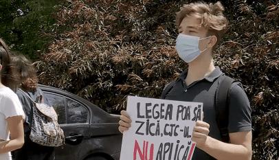 Elevii constănțeni continuă protestele
